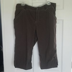 Mountain Hard Wear Brown Comfort Capris, Size 12